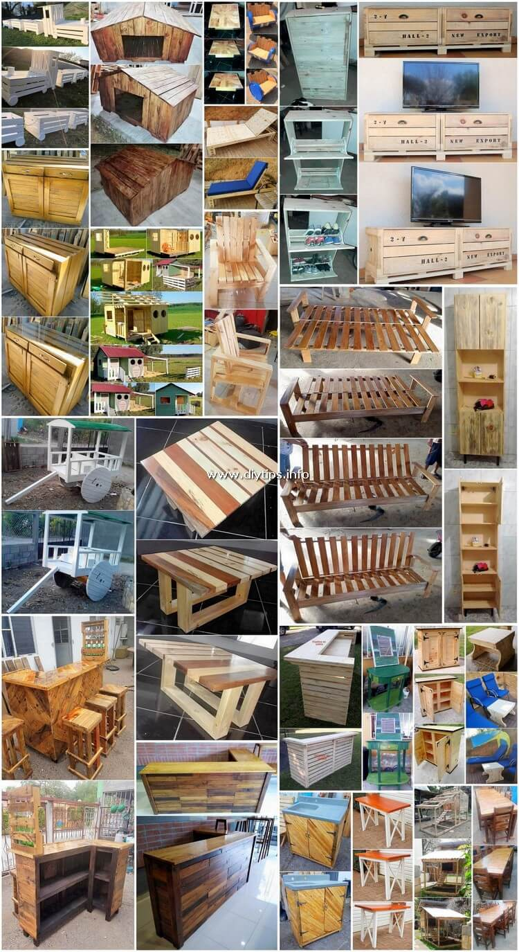 Old Wooden Pallets Recycling and Reusing - Creative DIY Ideas