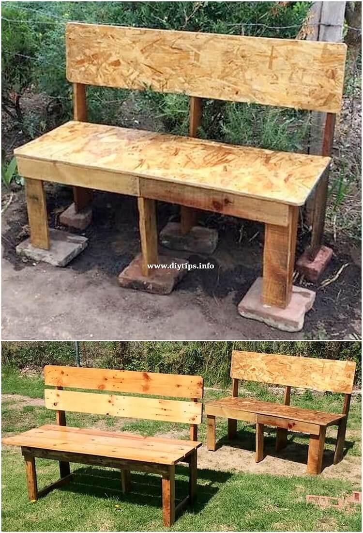 Pallet Garden Benches