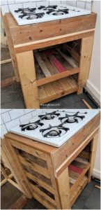 Pallet Stove Stand