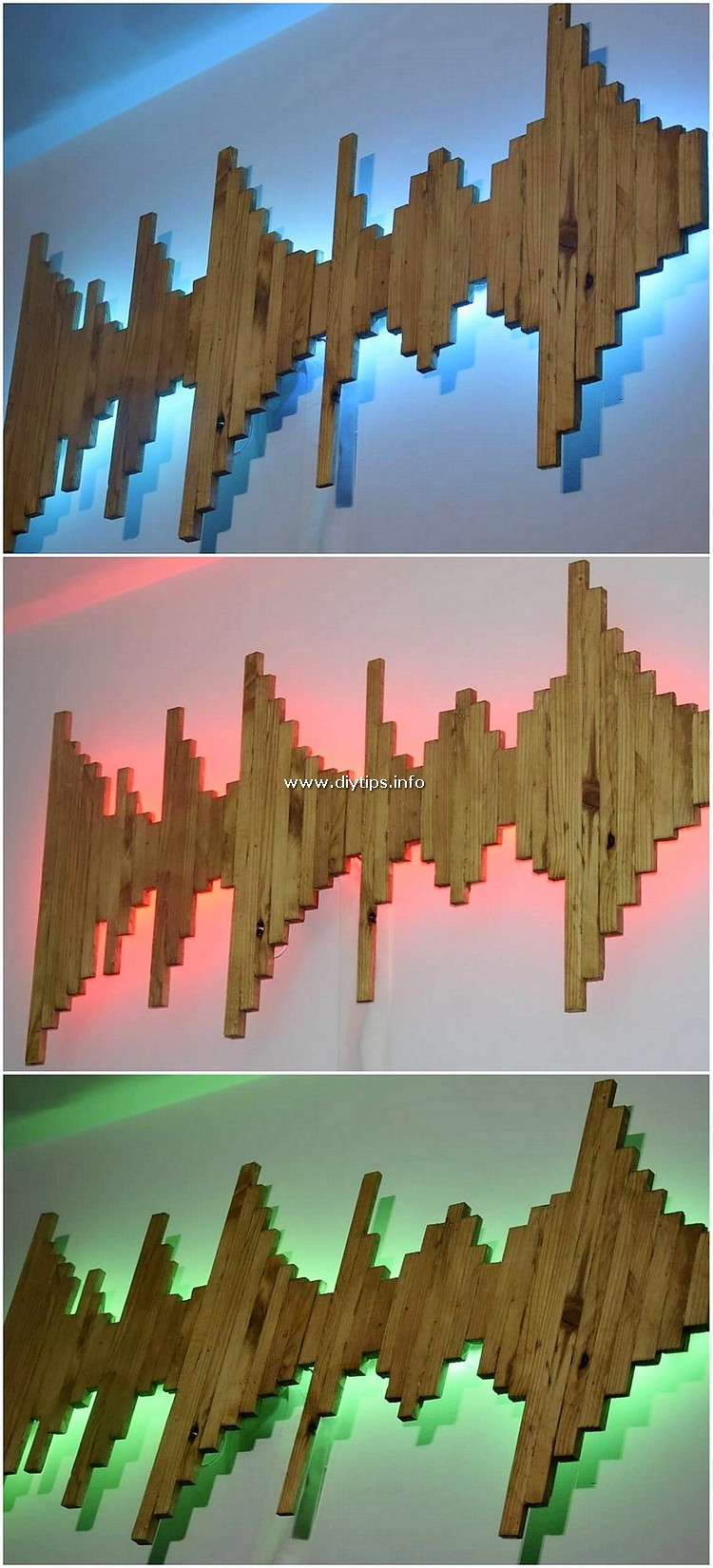 Pallet Wall Decor with Lights