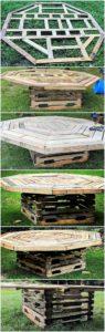 Round Top DIY Pallet Table