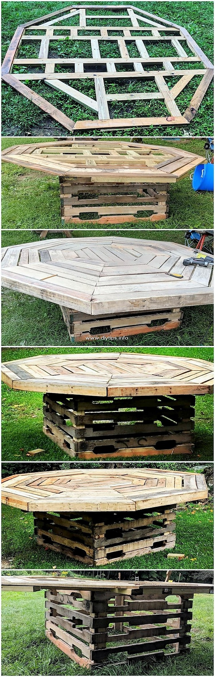 Round Top DIY Pallet Table