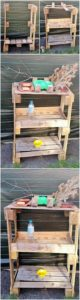 DIY Pallet Shelving Table