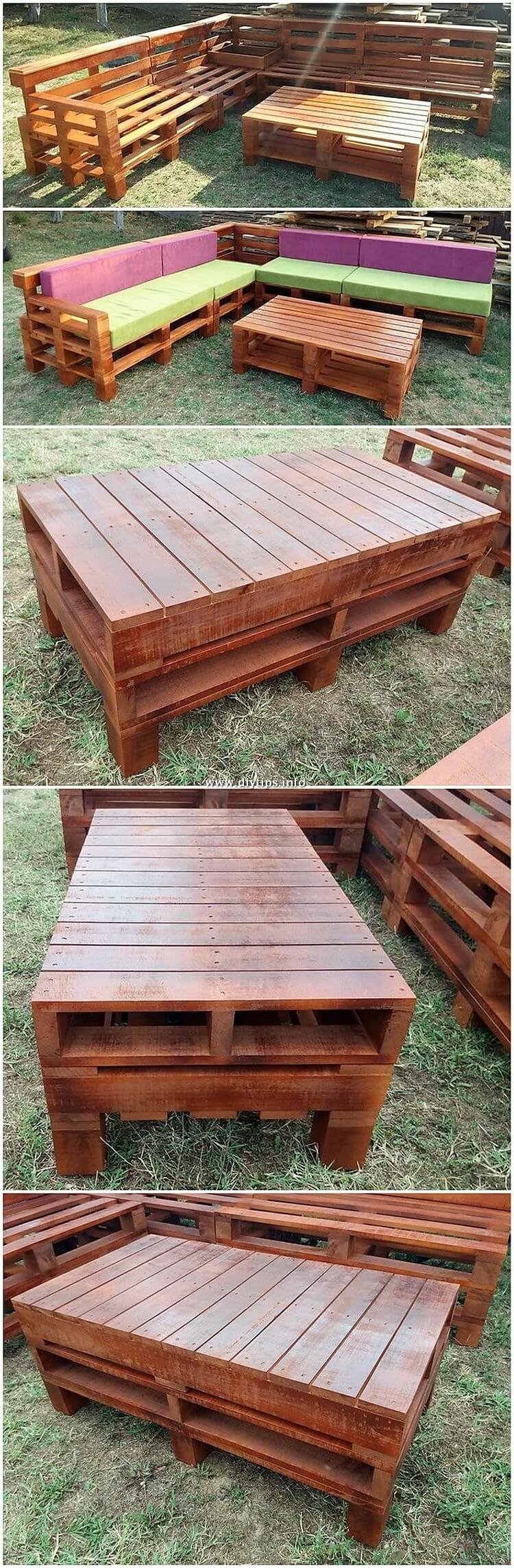 Garden Pallet Couch and Table