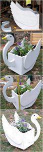 Pallet Duck Planter