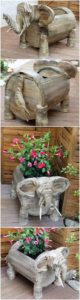 Pallet Elephant Shape Planter