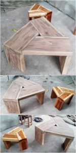 Pallet Table and Stool