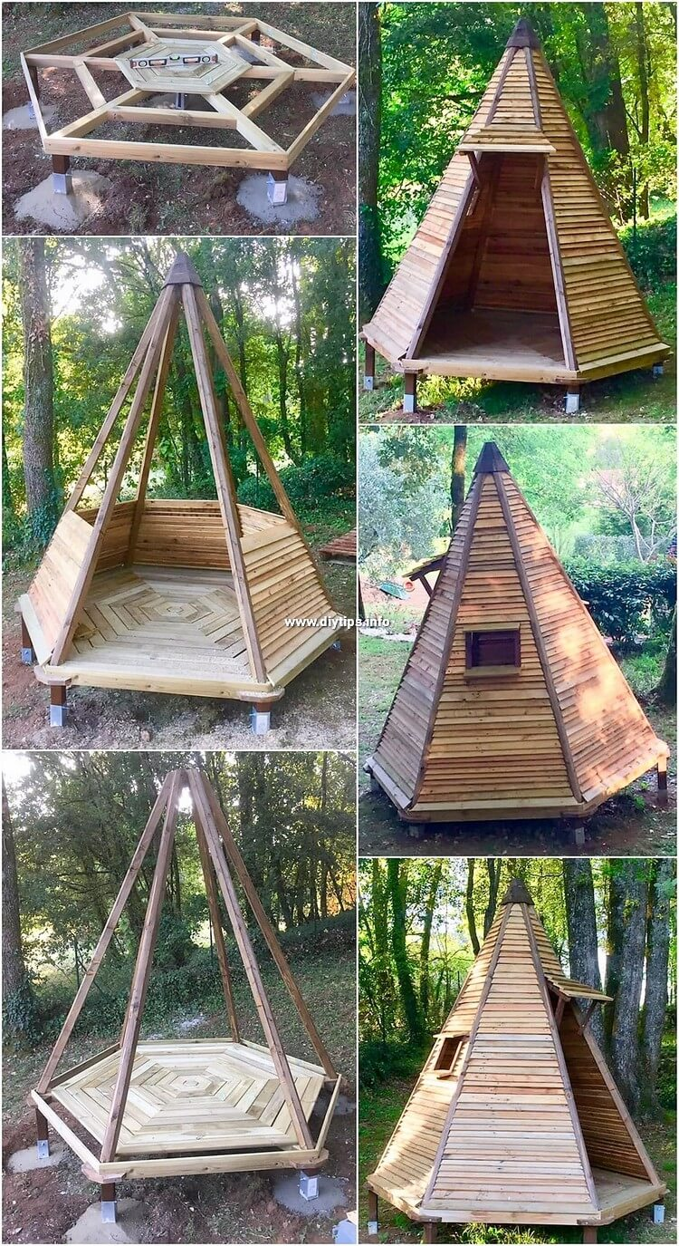 Pallet Teepee for Kids