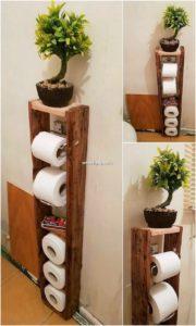 Wood Pallet Toilet Paper Roll Holder