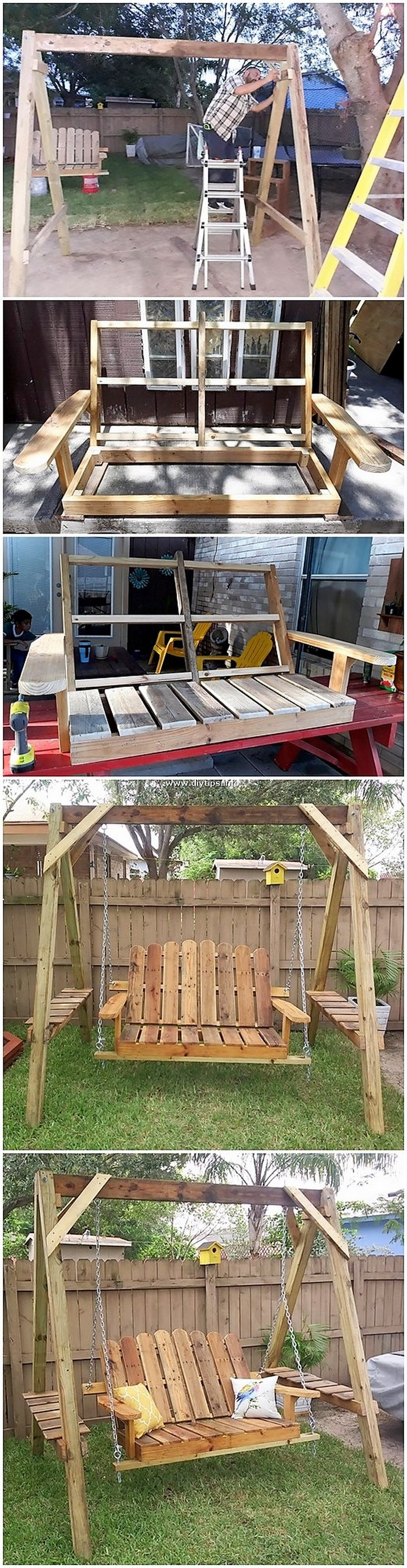 DIY Pallet Swing Bench