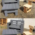 Pallet Bench Chair and Table