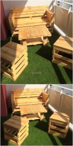 Pallet Bench and Tables