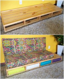 Pallet Couch with Drawer