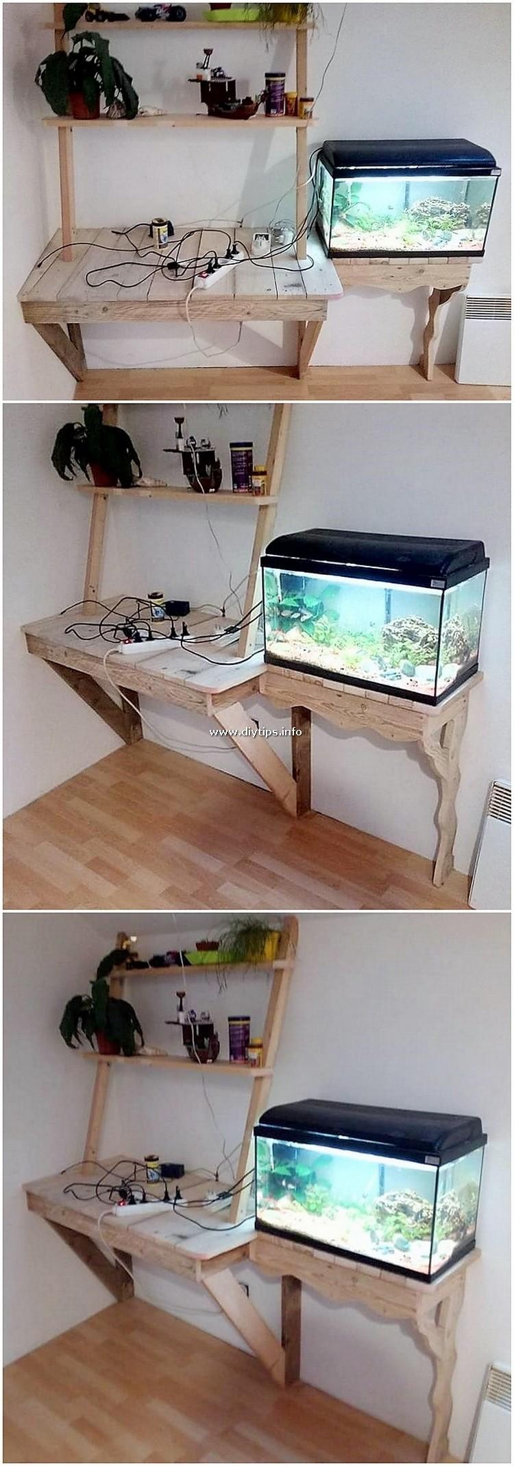 Pallet Desk Table and Aquarium Stand