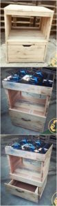 Pallet Stove Stand with Drawer