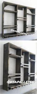 Pallet Wall Shelf or Wine Rack
