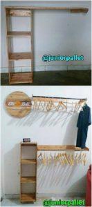 Pallet Wooden Closet