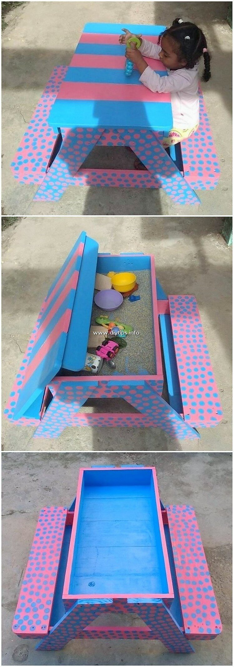 Pallet Table with Benches