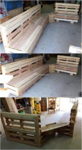 Pallet Wood Benches