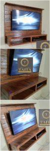 Pallet Wood Wall LED Holder