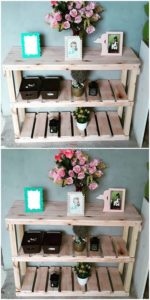 Pallet Wooden Shelving Table