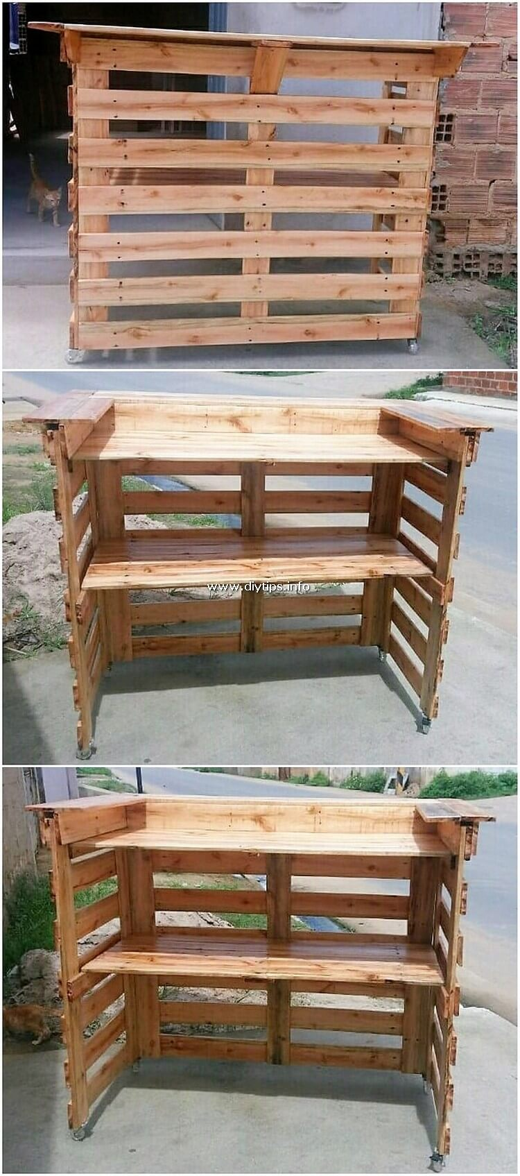 Wooden Pallet Counter Table
