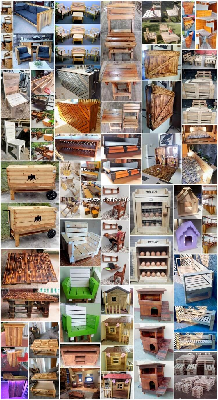 30 Ideas for Old Scraped Pallets Recycling