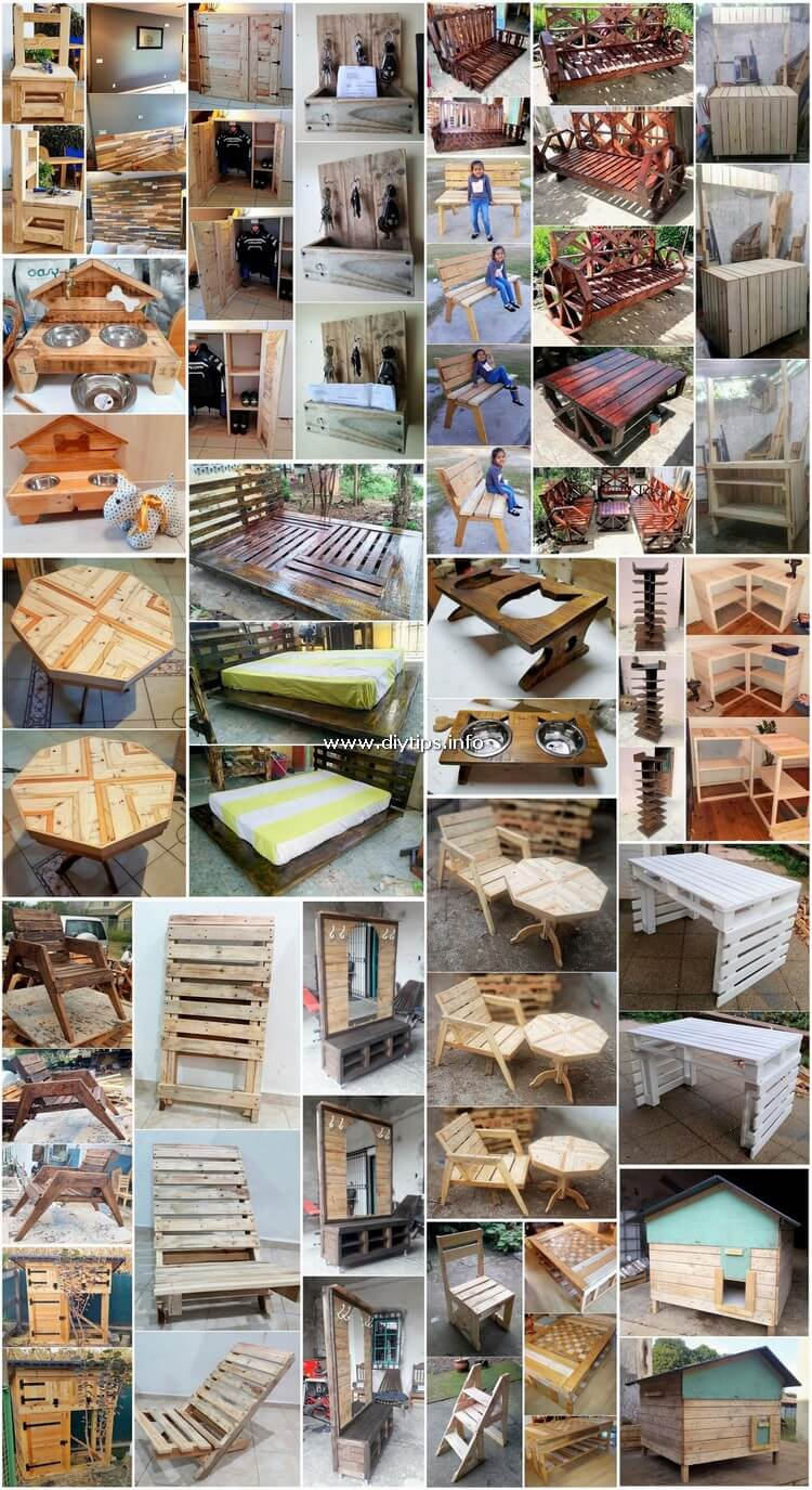 Creatively Designed Wood Pallet Furniture Projects