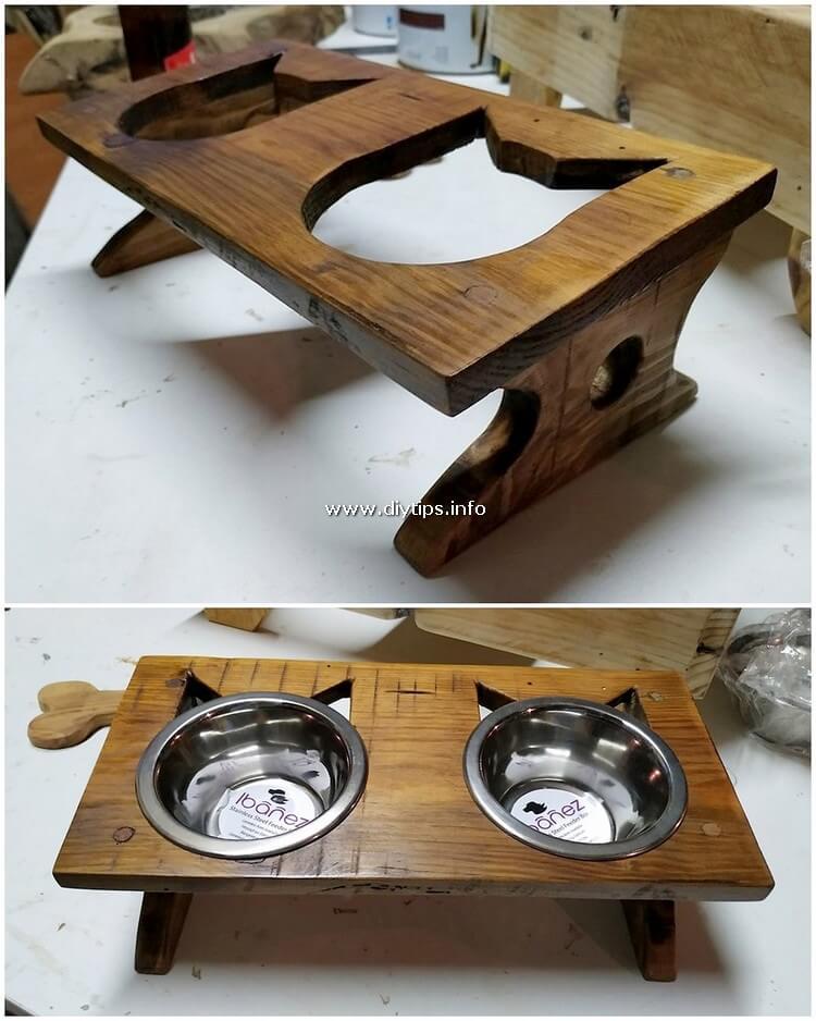 Pallet Cat Food Bowl