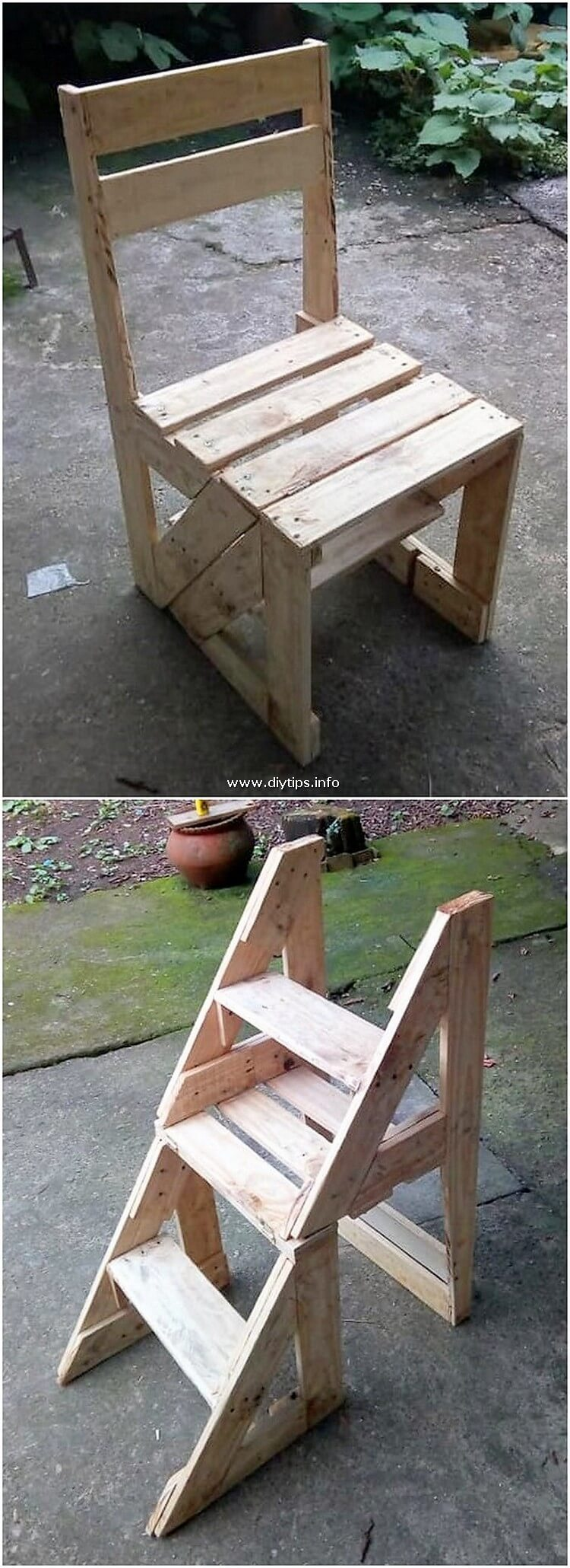 Pallet Chair or Shelving Stand
