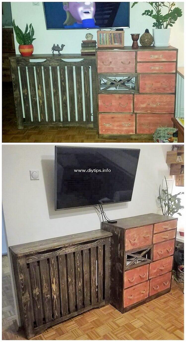 Pallet Shelf and Media Cabinet