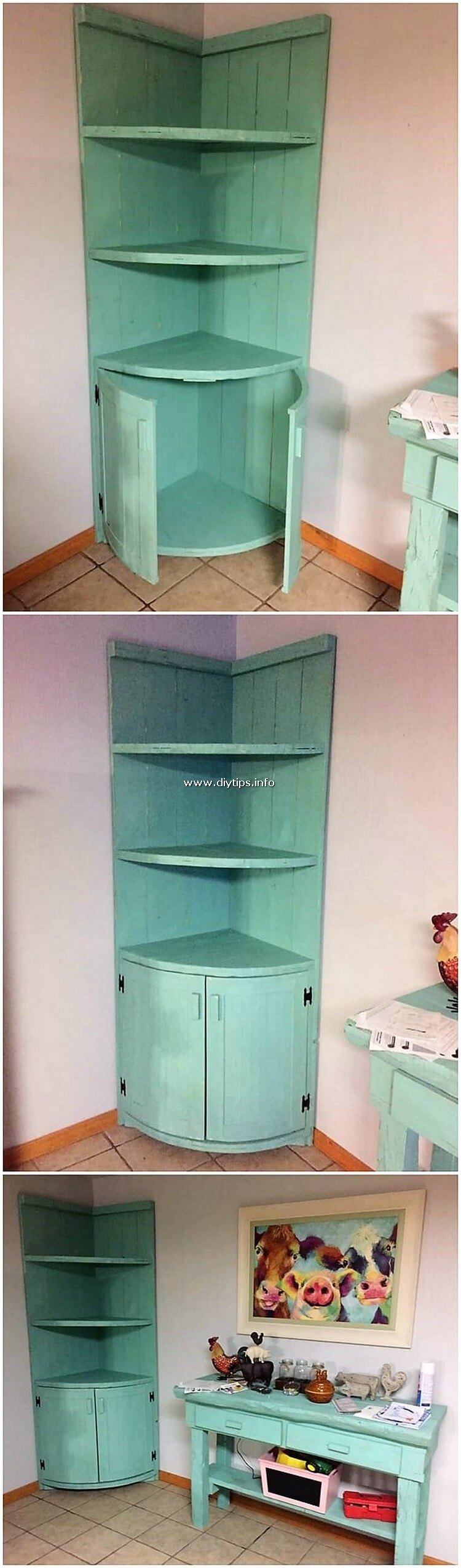 Pallet Shelving Unit with Cabinet