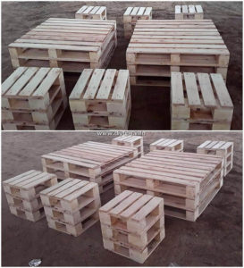 Pallet Tables and Stools