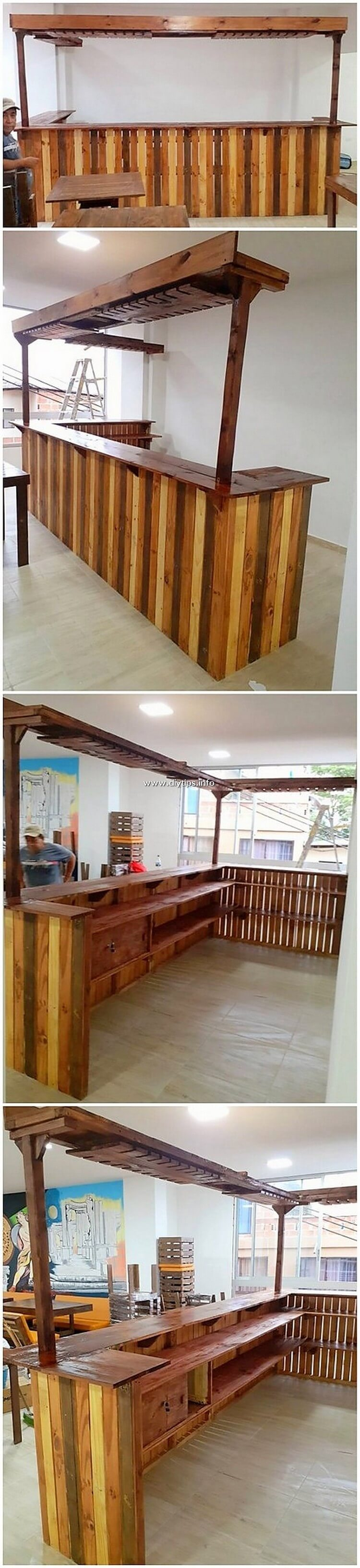 Pallet Wood Counter Table