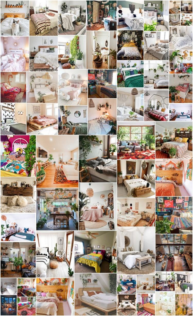 100+ Modern Bohemian Bedrooms & Home Interior Decor Ideas