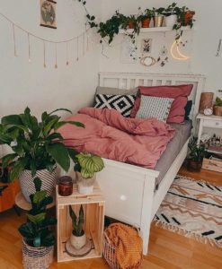 Modern Bohemian Bedroom (10)