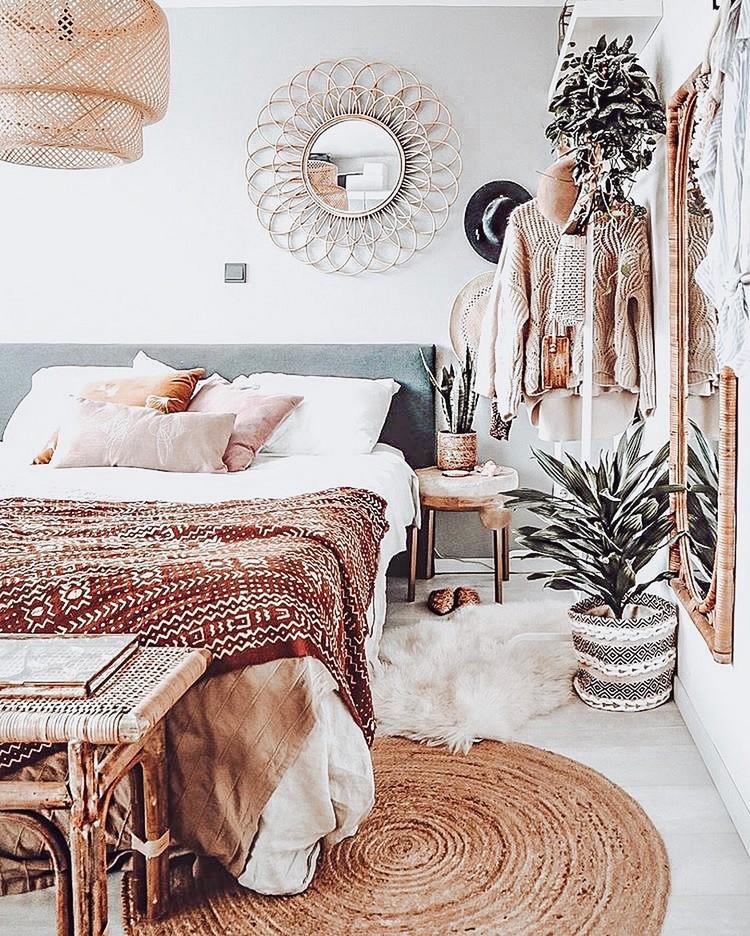 Modern Bohemian Bedroom (14)