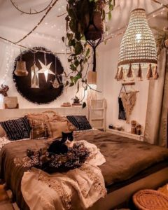 Modern Bohemian Bedroom (17)