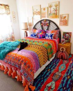 Modern Bohemian Bedroom (20)