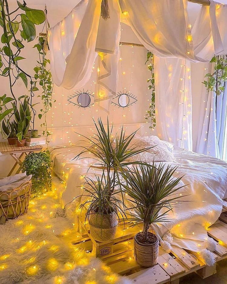 Modern Bohemian Bedroom (24)