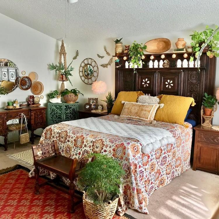 Modern Bohemian Bedroom (32)