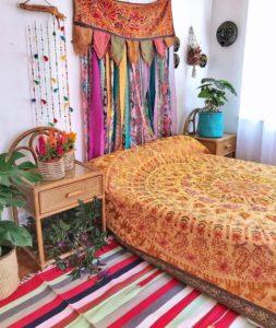 Modern Bohemian Bedroom (34)