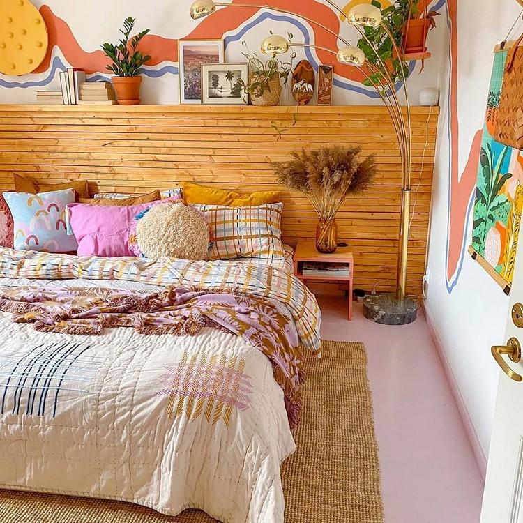 Modern Bohemian Bedroom (38)