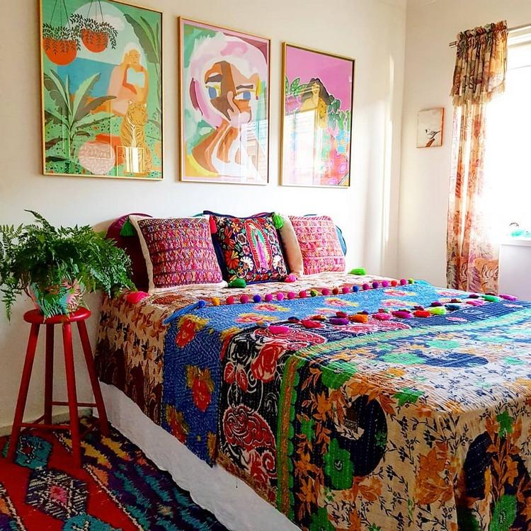 Modern Bohemian Bedroom (45)