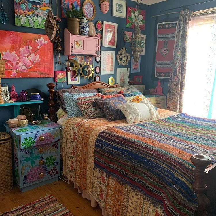 Modern Bohemian Bedroom (47)