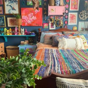 Modern Bohemian Bedroom (48)