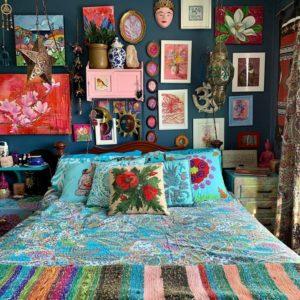 Modern Bohemian Bedroom (49)