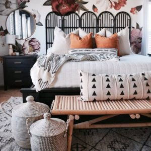 Modern Bohemian Bedroom (50)