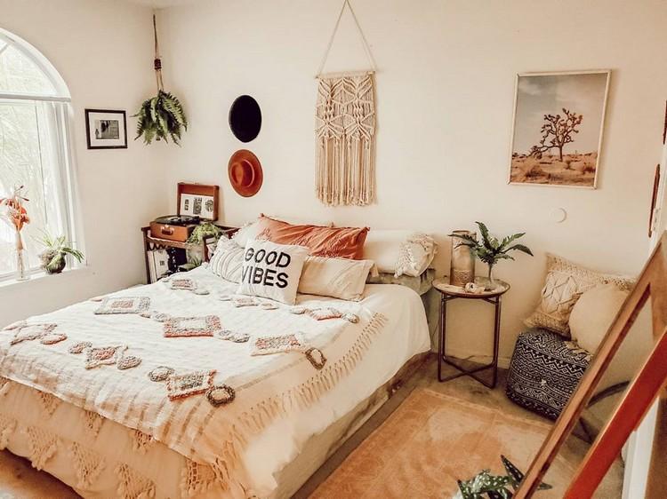 Modern Bohemian Bedroom (56)