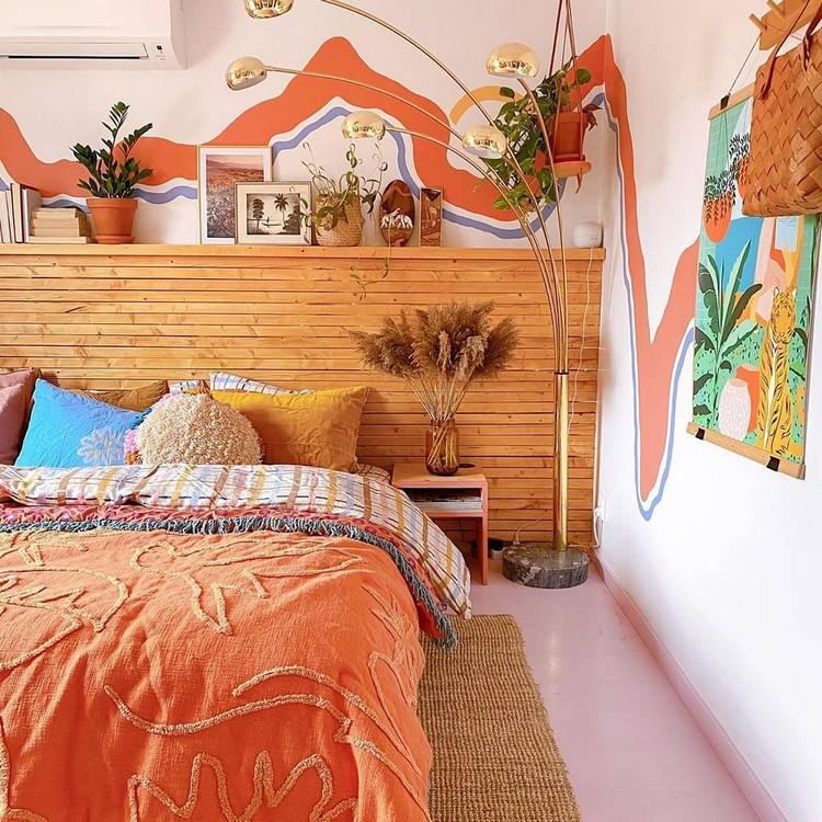 Modern Bohemian Bedroom (9)